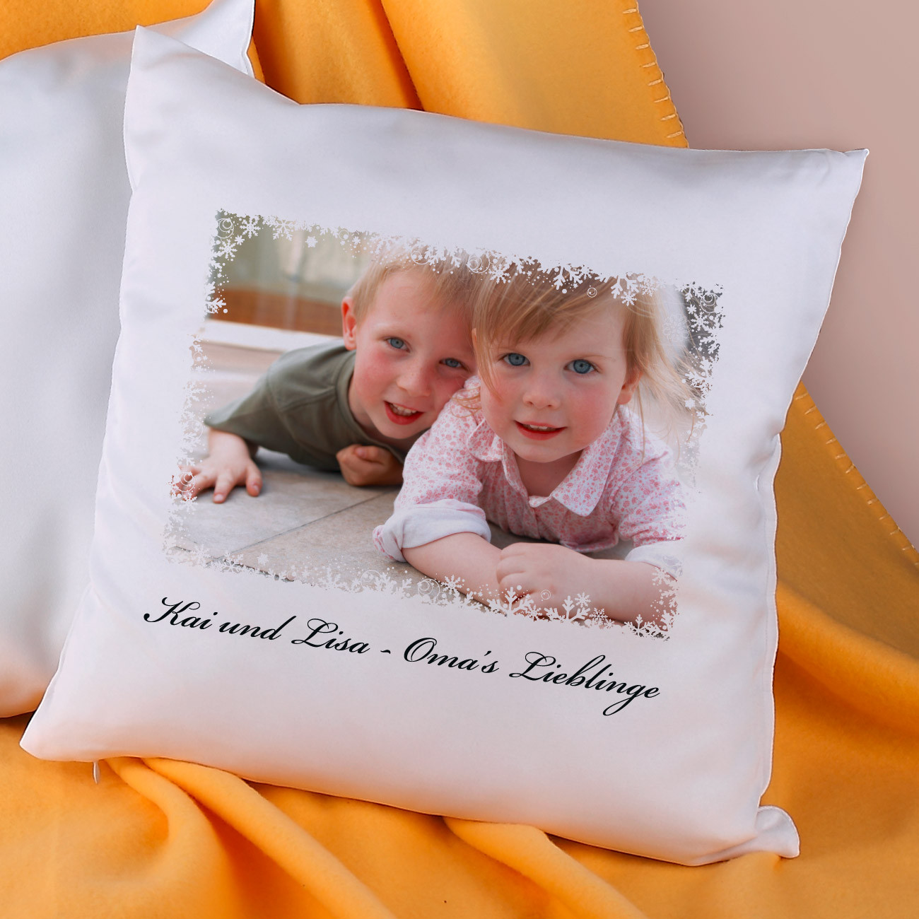 Geschenke-Online  Kissen mit Ihrem Foto und Text