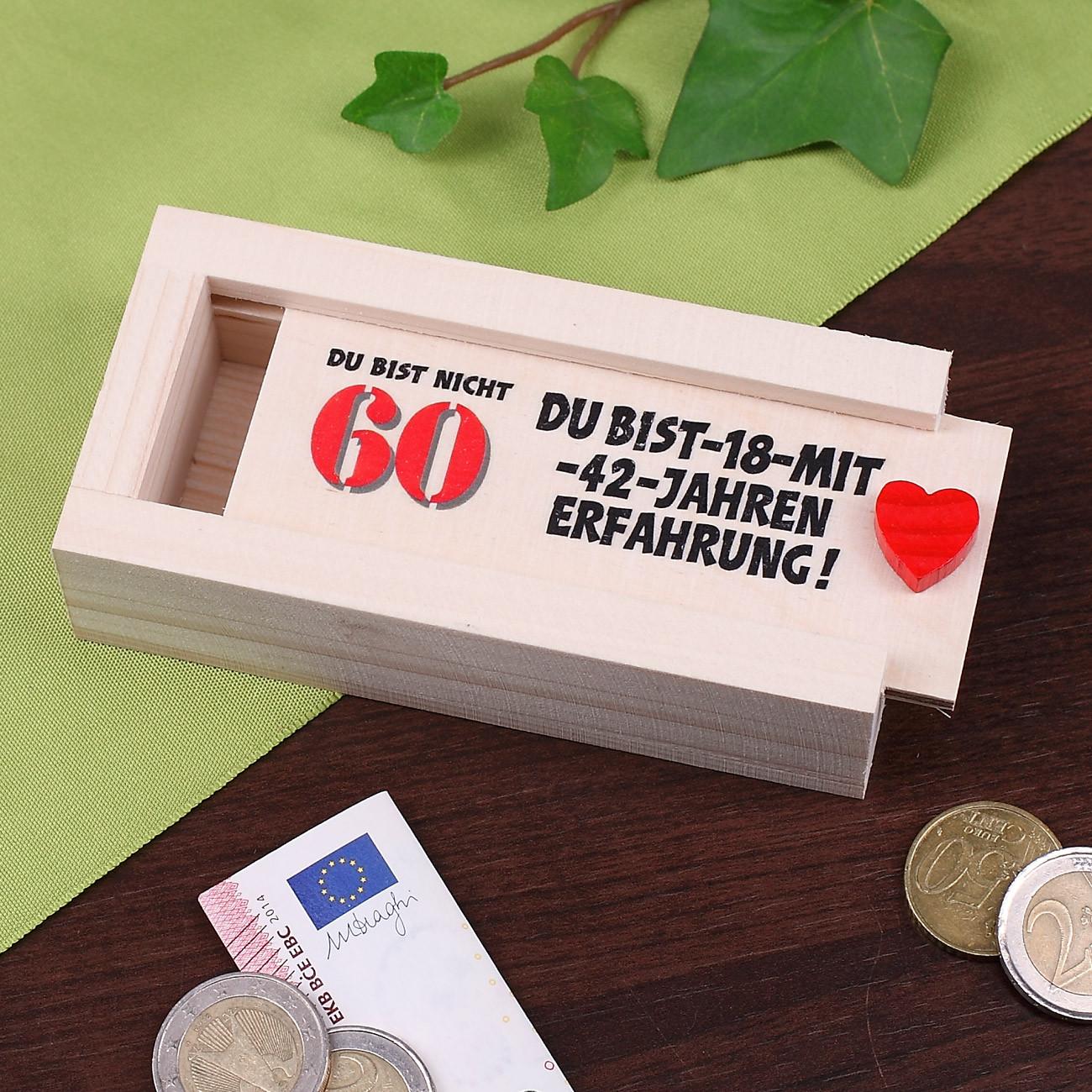 Geschenke-Online  Geldkiste zum 60 Geburtstag