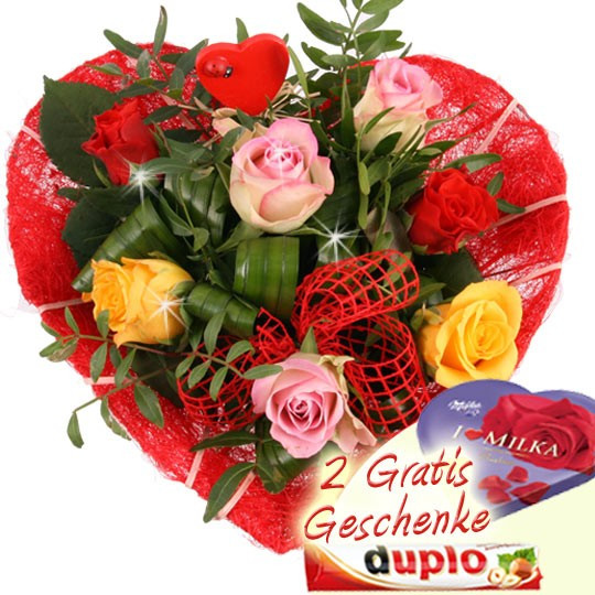 Geschenke Online Verschicken  Blumenstrauss Danke dass es Dich gibt Blumen online