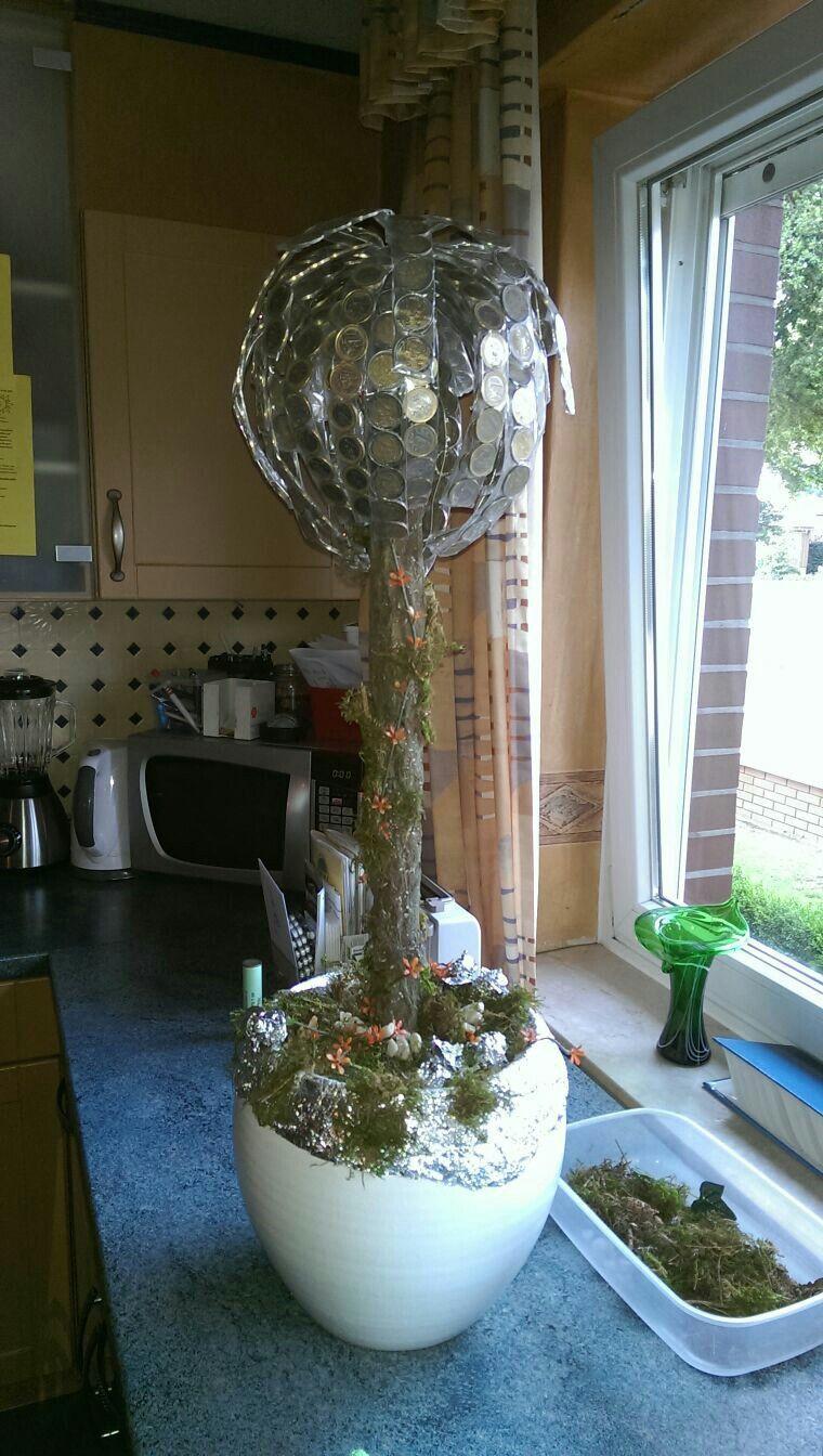 Geschenke Silberhochzeit  Geldbaum zur Silberhochzeit 💎