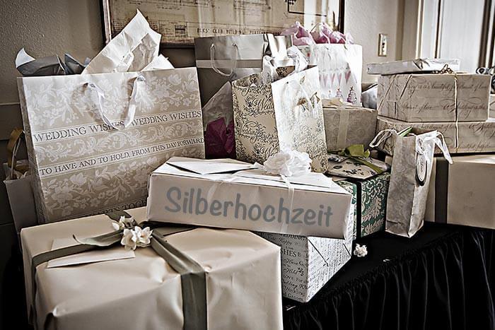 Geschenke Silberhochzeit  Silberne Hochzeit