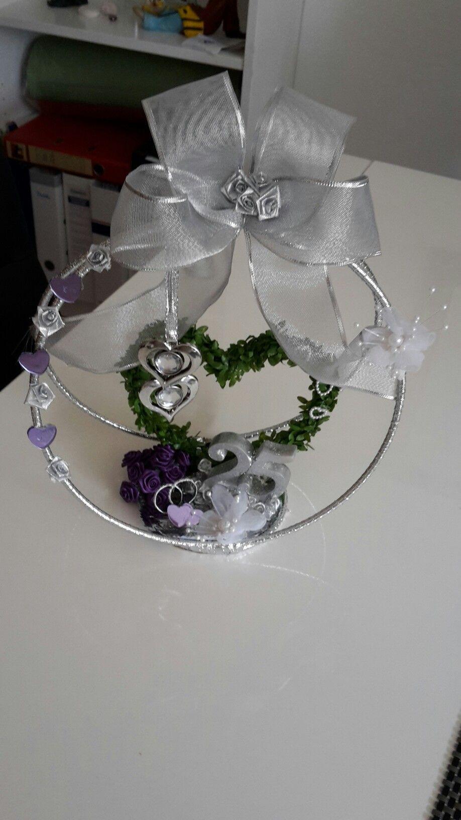 Geschenke Silberhochzeit  Geschenk zur Silberhochzeit Krone selbst gebastelt