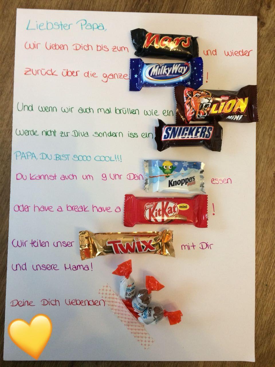 Geschenke Von Kindern Für Papa  Geschenkidee für Papa Kiga Ideen Pinterest