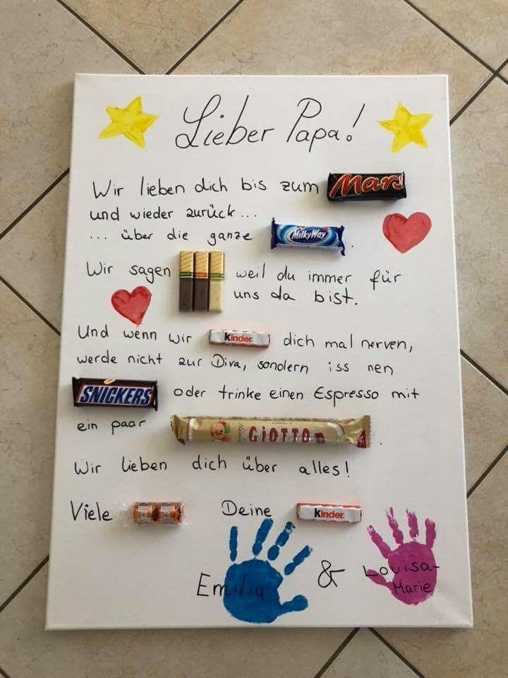 Geschenke Von Kindern Für Papa  Vatertag Muttertag