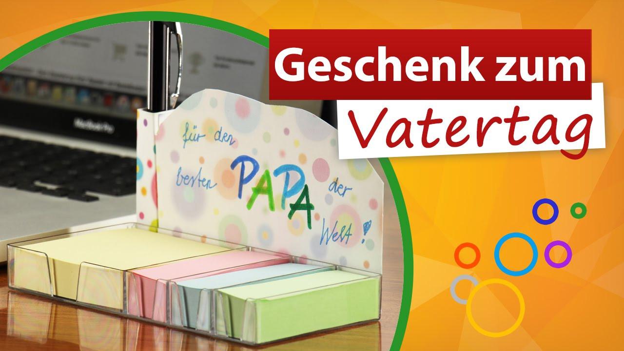 Geschenke Von Kindern Für Papa  Geschenke zum Vatertag von Kindern 💙 Notizzettel für Papa