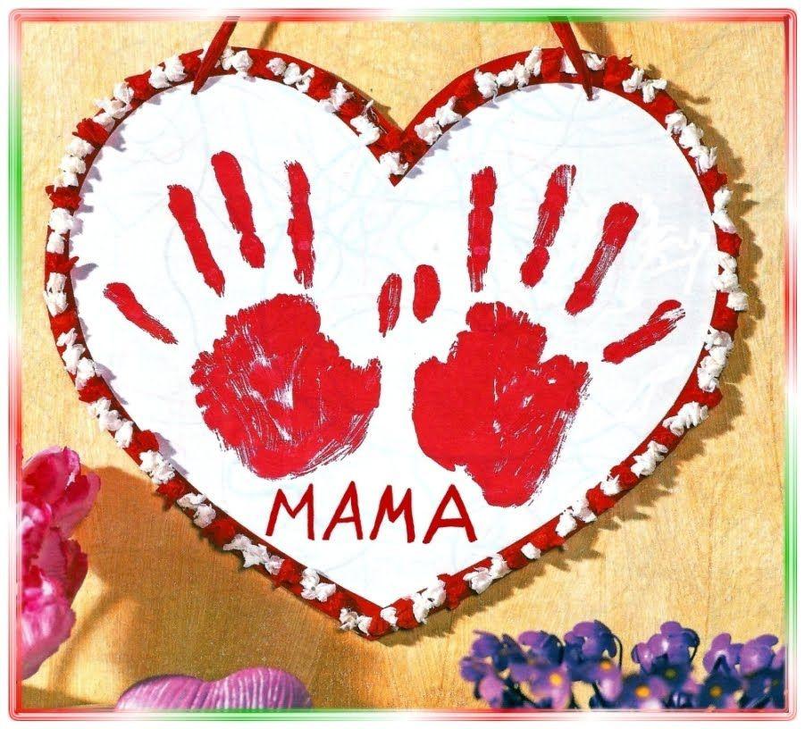 Geschenke Von Kindern Für Papa  Ein Herz zum Muttertag Vatertag Geburtstag Basteln