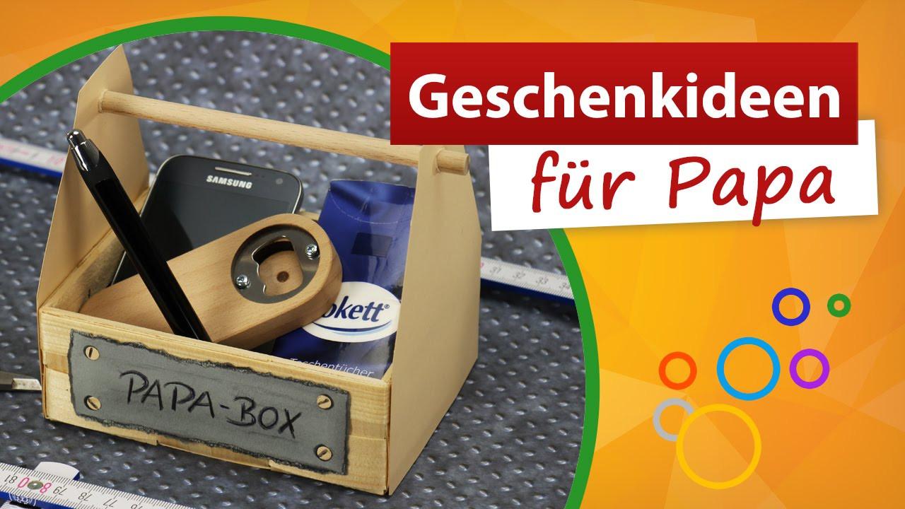 Geschenke Von Kindern Für Papa  Geschenkideen für Papa 💚 Vatertag Bastelidee