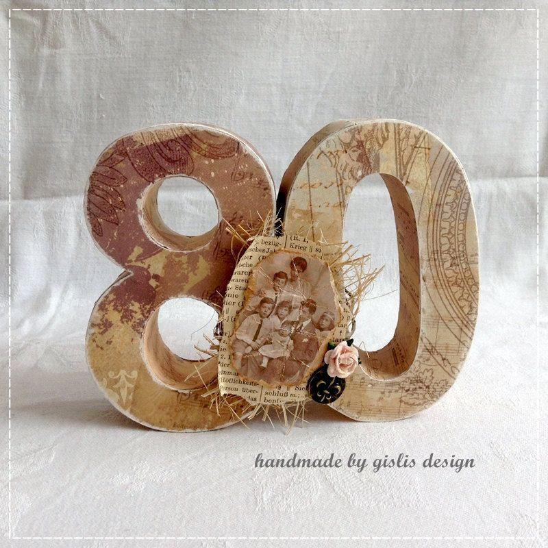 Geschenke Zum 80. Geburtstag Opa  Birthday number 80 t anniversary unique