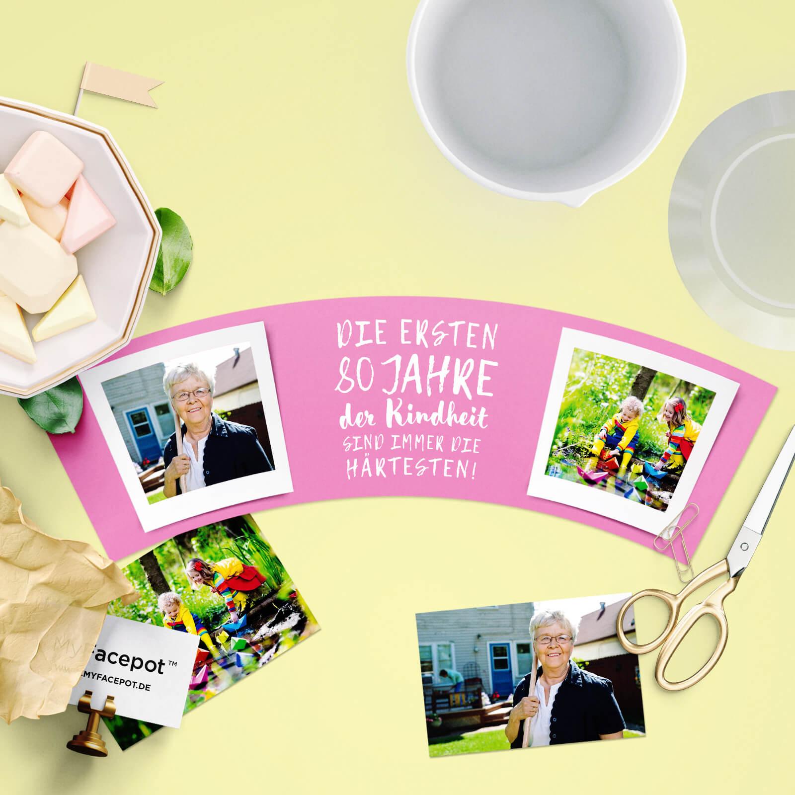 Geschenke Zum 80. Geburtstag Opa  Die ersten 80 Jahre sind härtesten – Blumentopf von