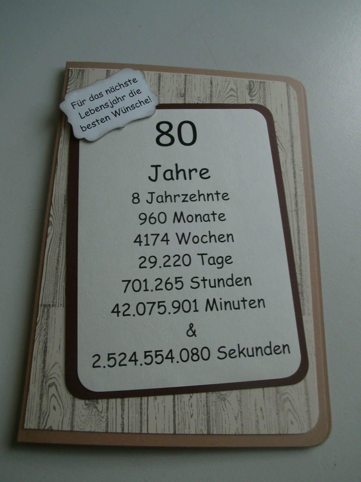 Geschenke Zum 80. Geburtstag Opa  Einladungskarten Zum 80 Geburtstag Selbst Drucken