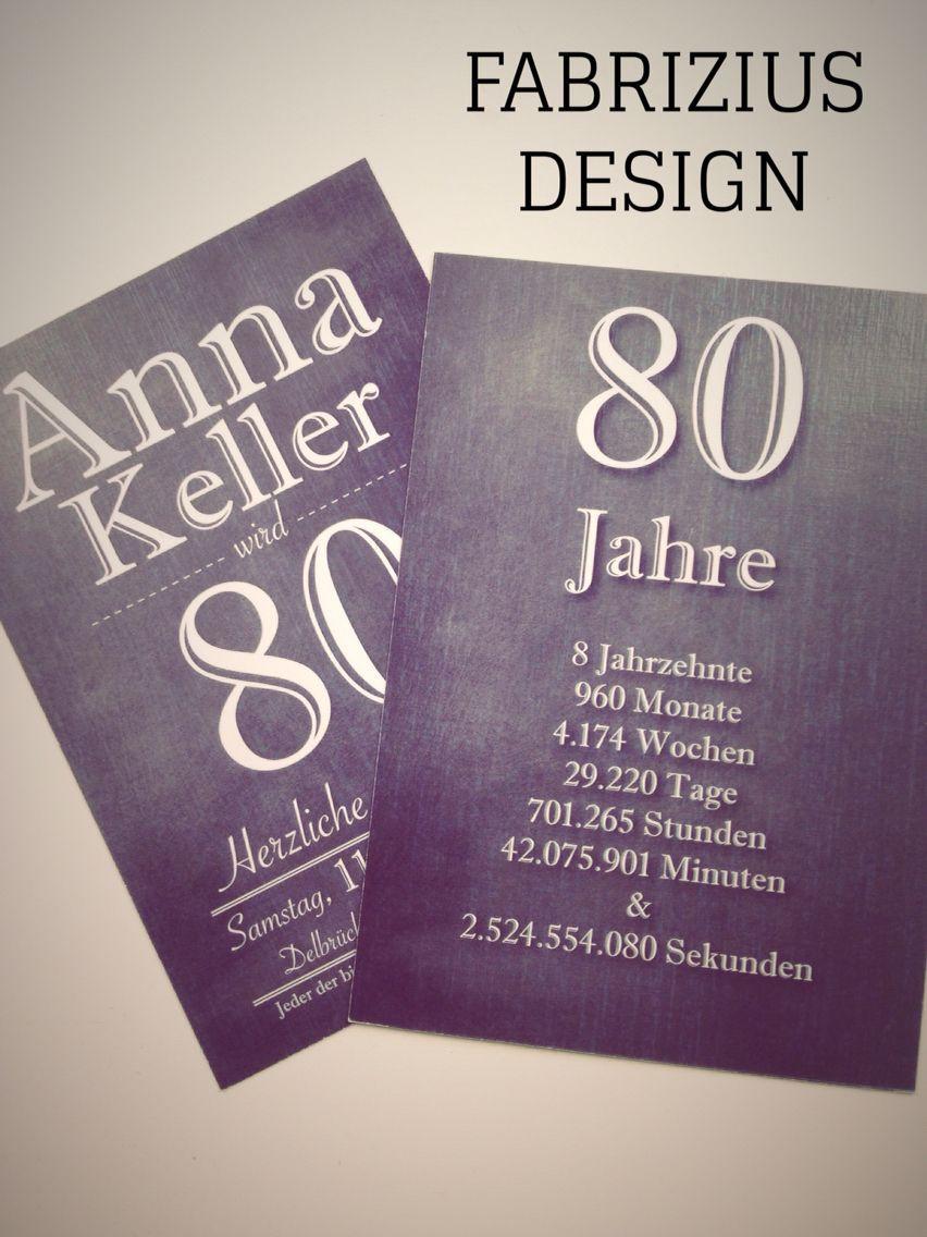 Geschenke Zum 80. Geburtstag Opa  Einladung zum 80 Geburtstag Print