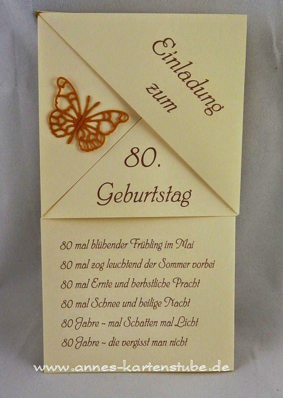 Geschenke Zum 80. Geburtstag Opa  Die besten 25 Einladung 80 geburtstag Ideen auf