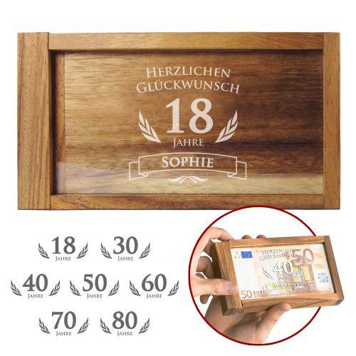 Geschenke Zum 80. Geburtstag Opa  Magische Geldgeschenkbox zum Geburtstag witziges