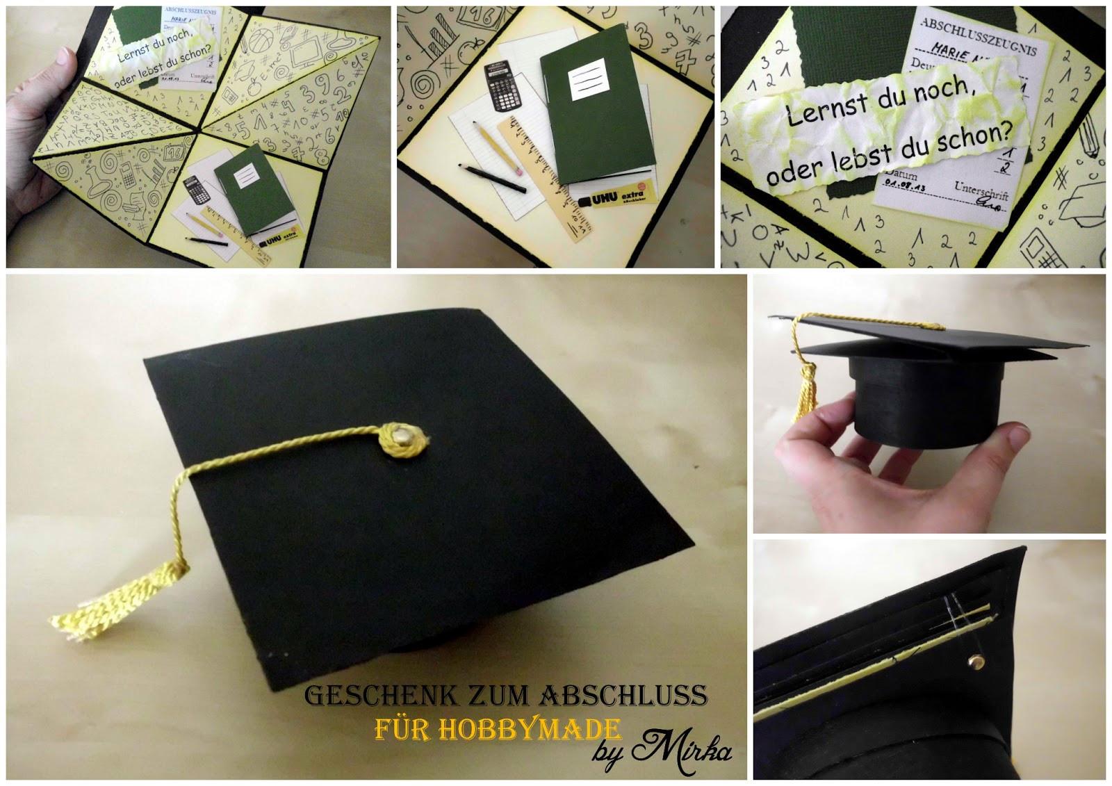 Geschenke Zum Abschluss  Crafts by Mirka Geschenk zum Abschluss
