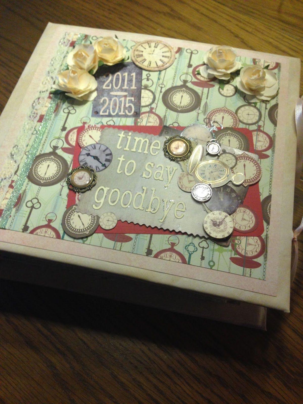 Geschenke Zum Abschluss  Scrapbook Abschiedsalbum für Lehrerin