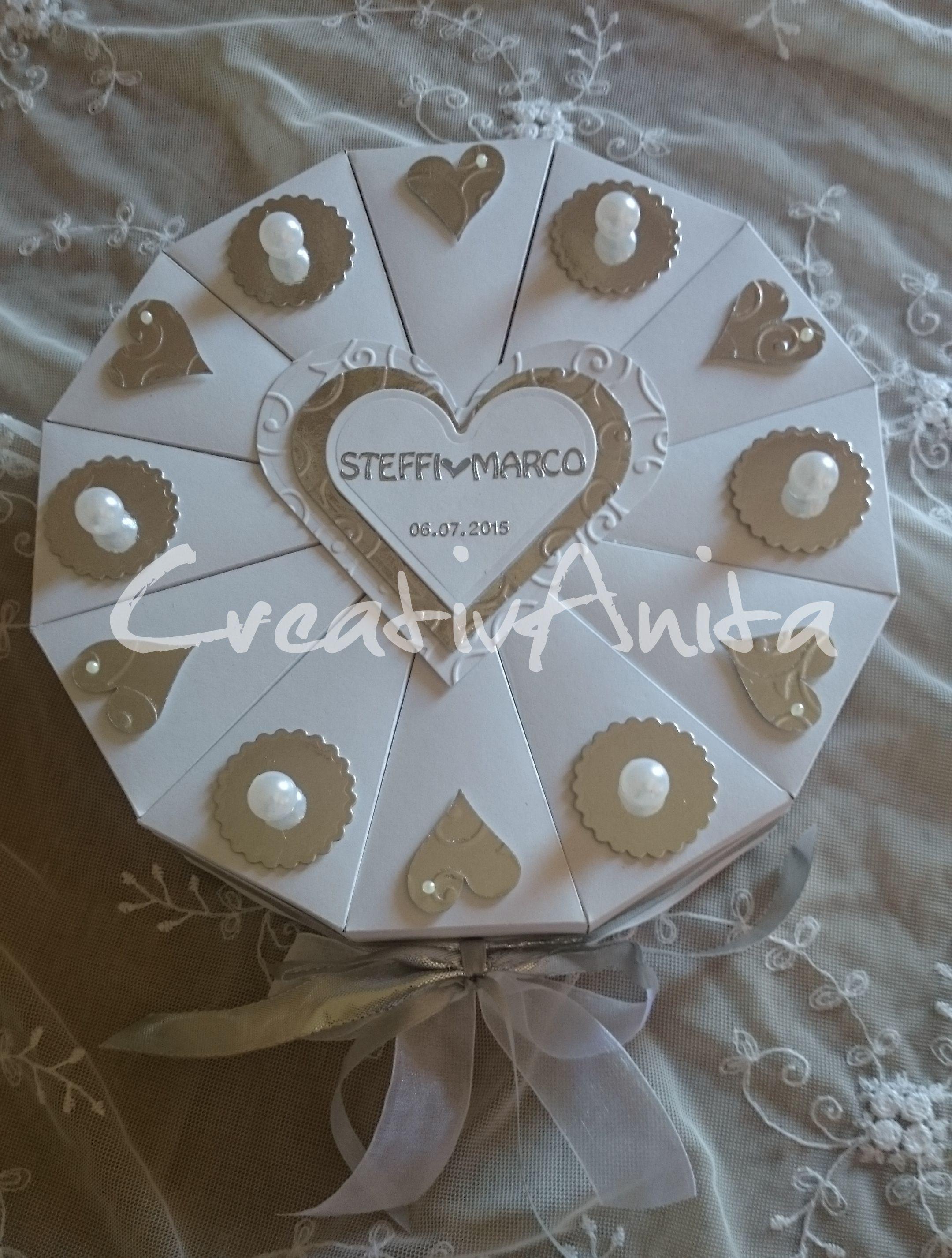 Geschenke Zur Perlenhochzeit  Schachteltorte zur PERLENHOCHZEIT Geldgeschenk