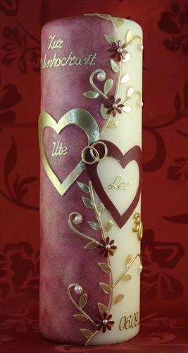 Geschenke Zur Perlenhochzeit  Kerze Perlenhochzeit RH 02 Geschenk Perlenhochzeit