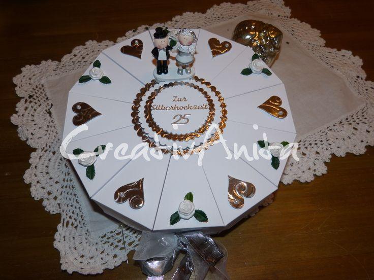 Geschenke Zur Perlenhochzeit  Schachteltorte zur Silberhochzeit Geldgeschenk