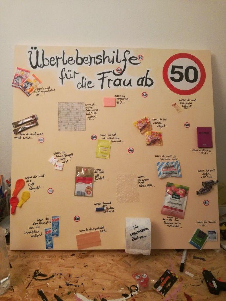Geschenkideen 50 Geburtstag  Geburtstagsgeschenk für Frau zum 50 50
