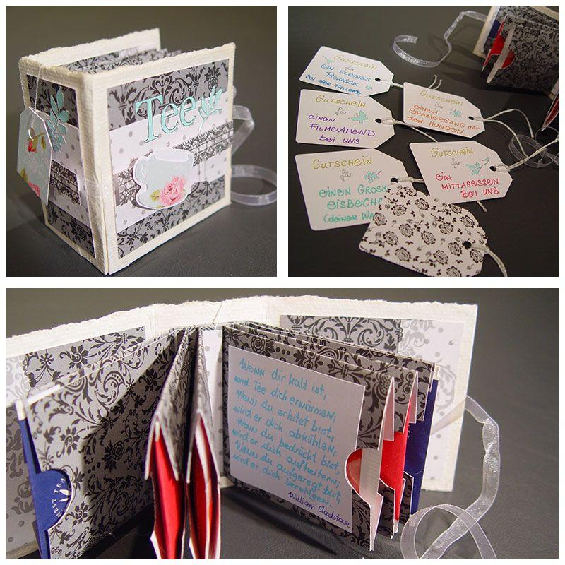 Geschenkideen Freundinnen  Teebeutelbuch Kleine Geschenke
