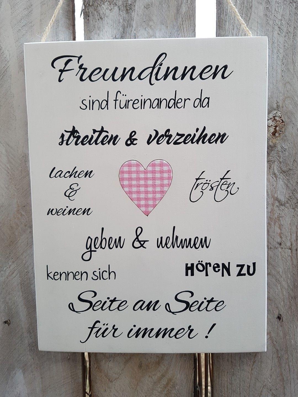 Geschenkideen Für Beste Freundin Zum Geburtstag  Holzschild Wunschbeschriftung Geschenk Tafel Holz