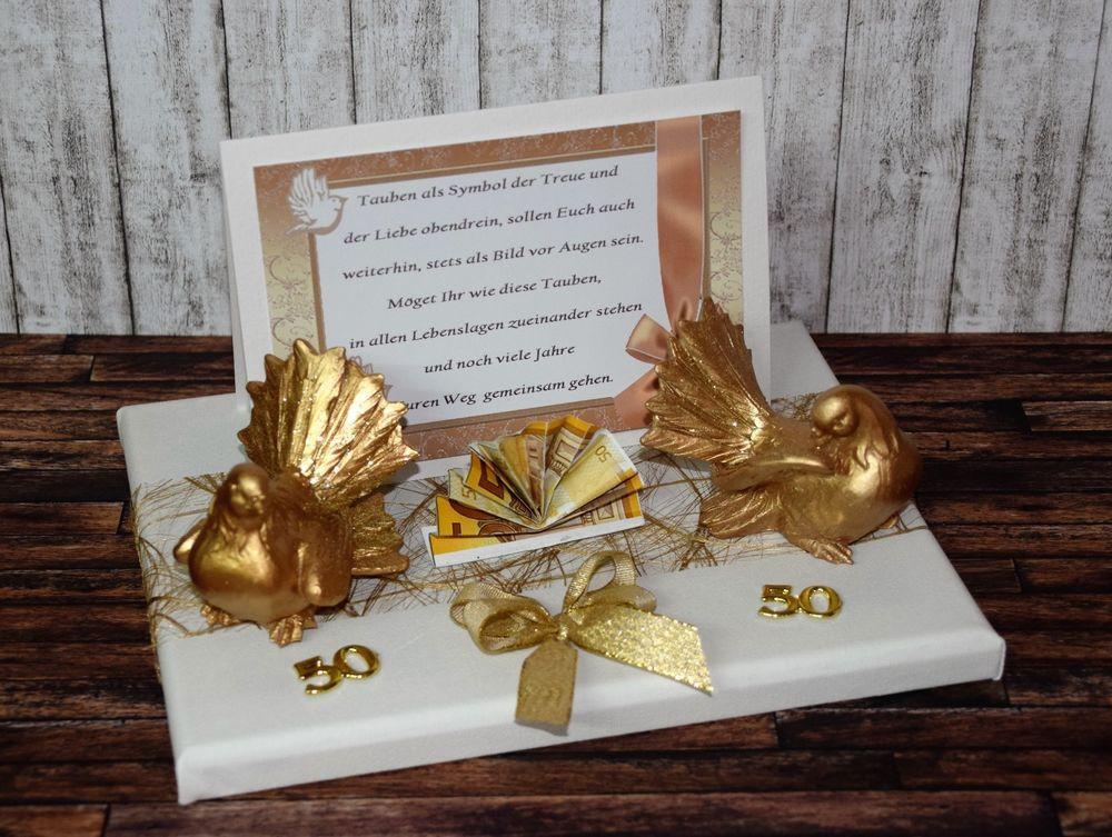 Geschenkideen Goldene Hochzeit  GESCHENK GELDGESCHENK zur GOLDENEN HOCHZEIT GOLDENE
