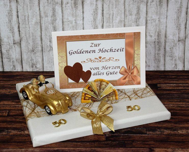 Geschenkideen Goldene Hochzeit  Geldgeschenke GELDGESCHENK ZUR GOLDENEN HOCHZEIT AUTO