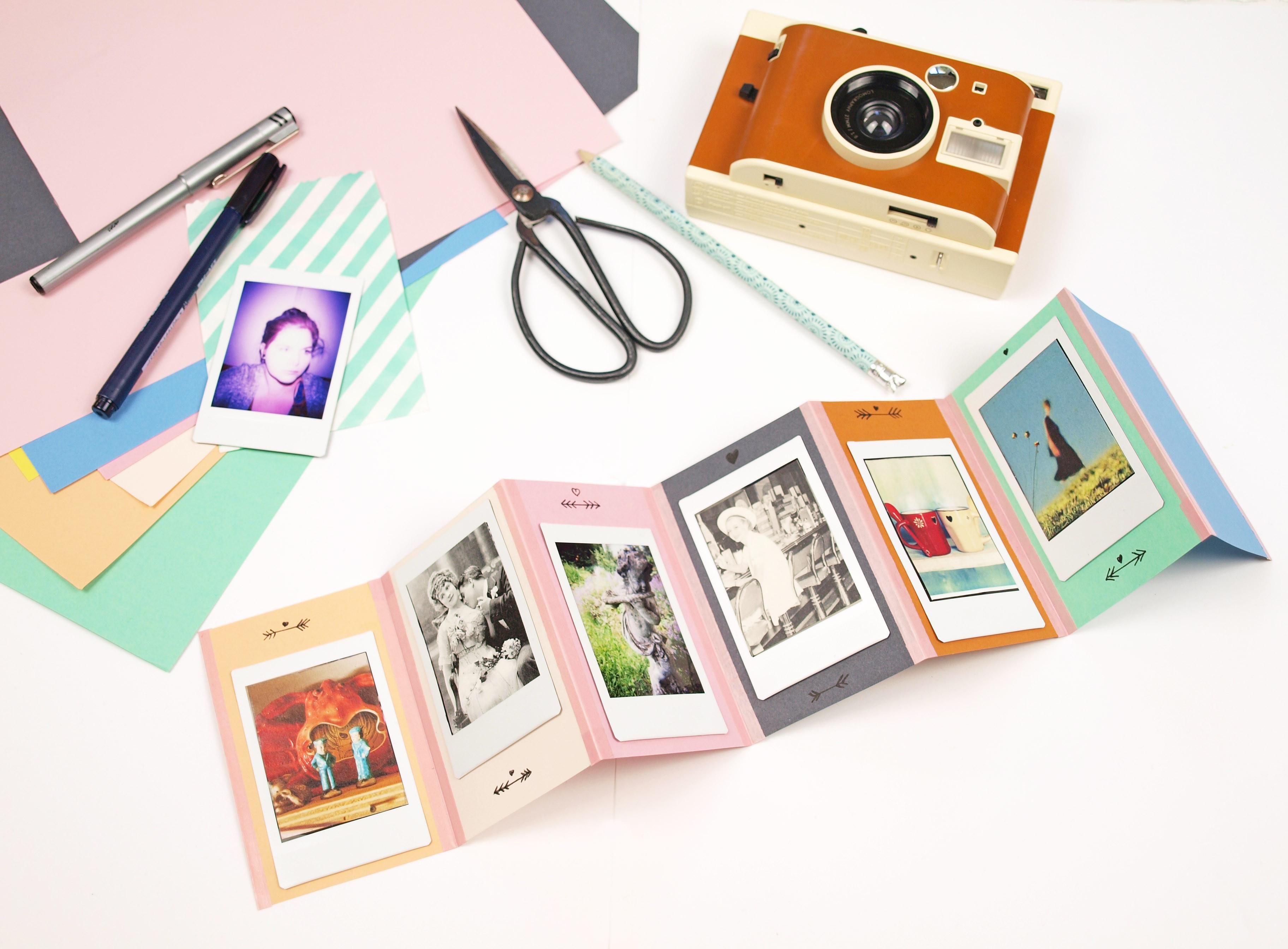 Geschenkideen Mit Fotos  Geschenkidee DIY Foto Leporello und Lomo Instant Kamera