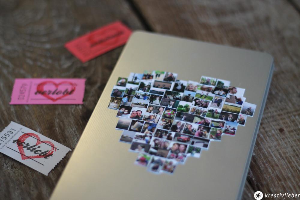 Geschenkideen Mit Fotos  DIY Geschenkschachel mit Fotos Hochzeitsgeschenke