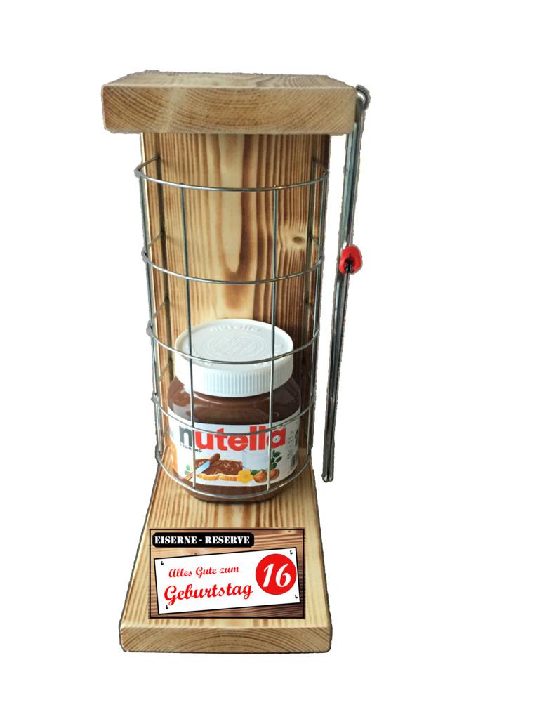 Geschenkideen Zum 16 Geburtstag  Eiserne Reserve mit Nutella Füllung