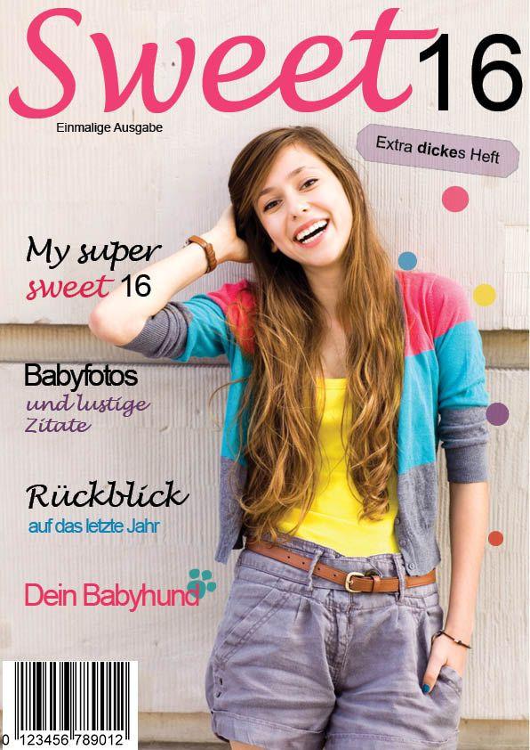 Geschenkideen Zum 16 Geburtstag  17 Best images about Zeitung erstellen on Pinterest