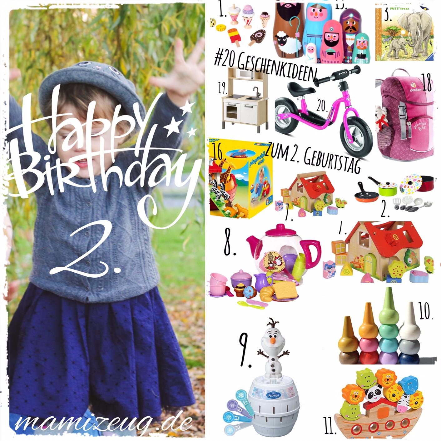 Geschenkideen Zum 2 Geburtstag  Die Top 20 Geschenke zum 2 Geburtstag mamizeug