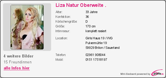 Girls Haus 19  Liza Natur Oberweite Girls Haus 19 WG Bordell in