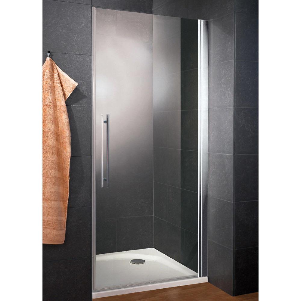 Glastür Dusche  Dusche Duschtür Duschabtrennung Nischentür Drehtür Glastür
