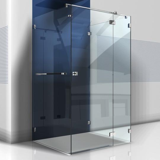 Glastür Dusche  U Dusche mit Glastür und drei Seitenteilen