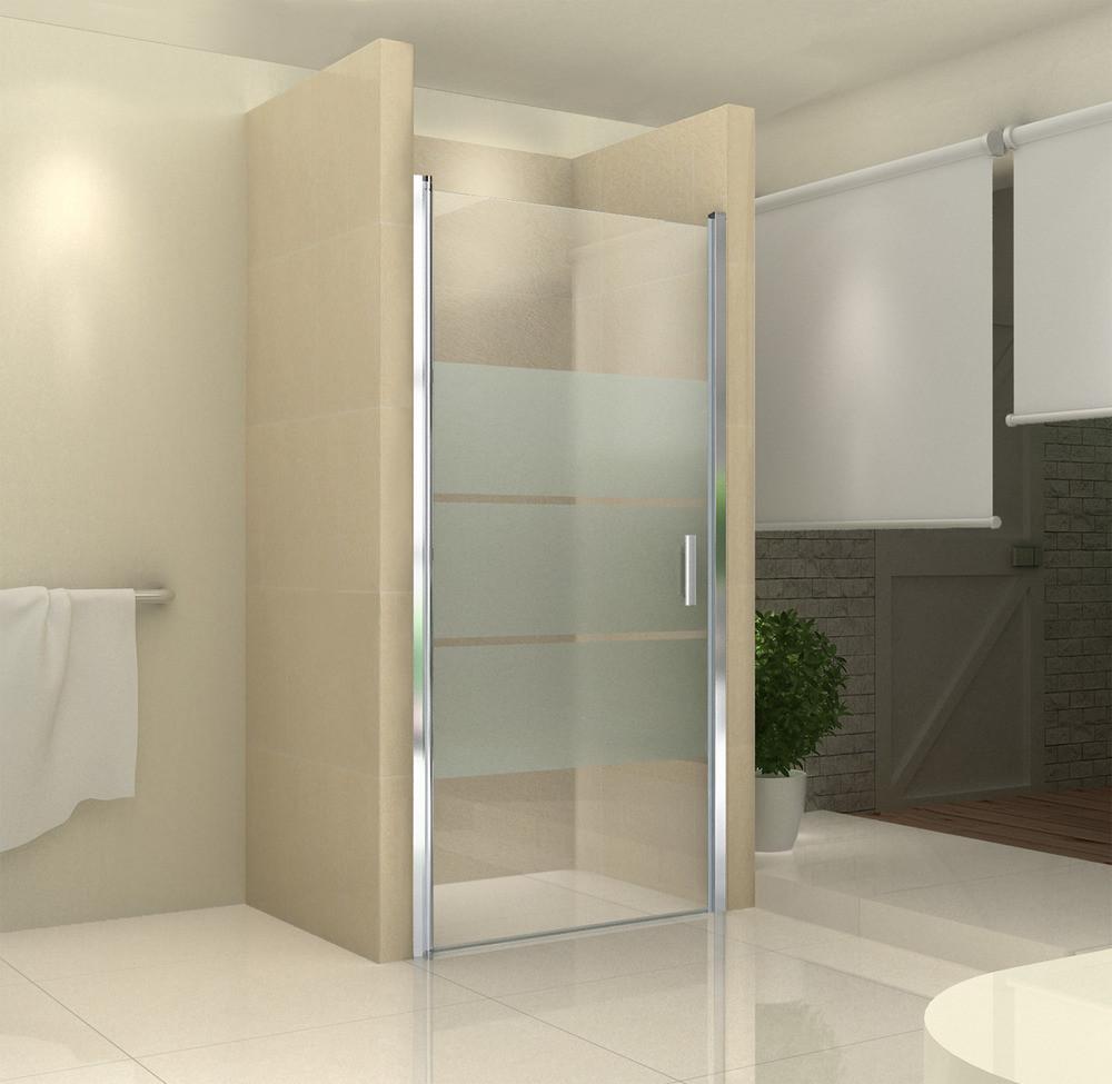 Glastür Dusche  Dusche Duschabtrennung Glastür STREIFEN NANO von 75