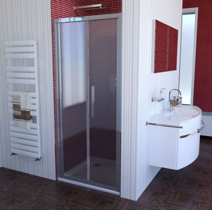 Glastür Dusche  Duschtür 80 Falttür Dusche 80 Falttür 80x200 cm
