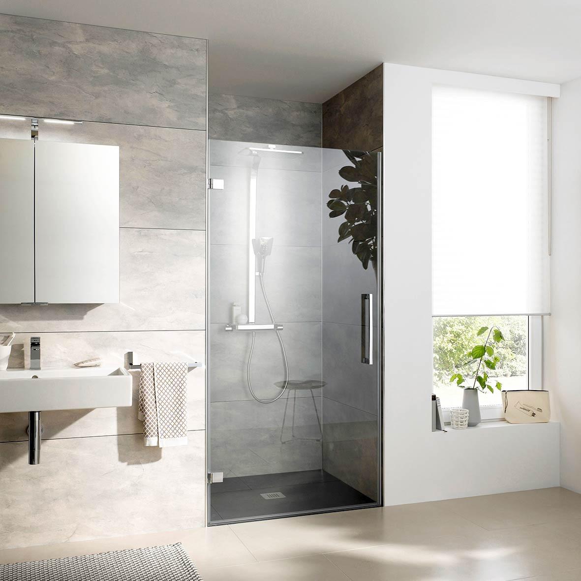 Glastür Dusche  Glastür Dusche Überblick zu HSK Türvarianten für Dusche