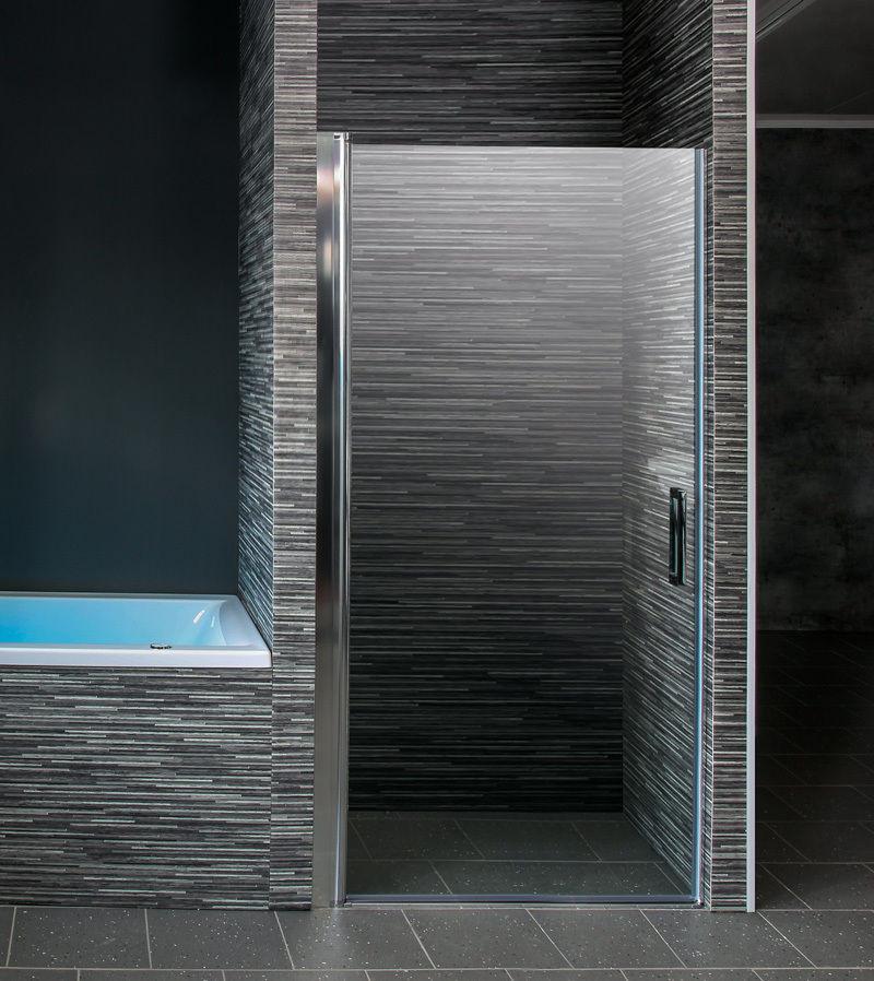 Glastür Dusche  Duschtür in Nische Duschkabine Duschabtrennung Nischentür