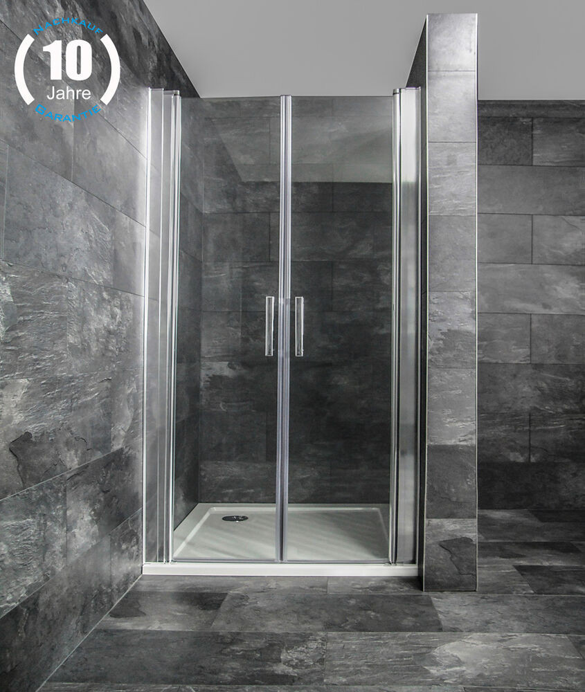 Glastür Dusche  Nischentür Pendeltür Duschtür in Nische Duschabtrennung
