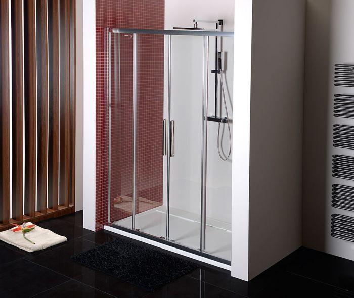 Glastür Dusche  Schiebetür Nische 160 cm Glastür 160x200 cm BxH