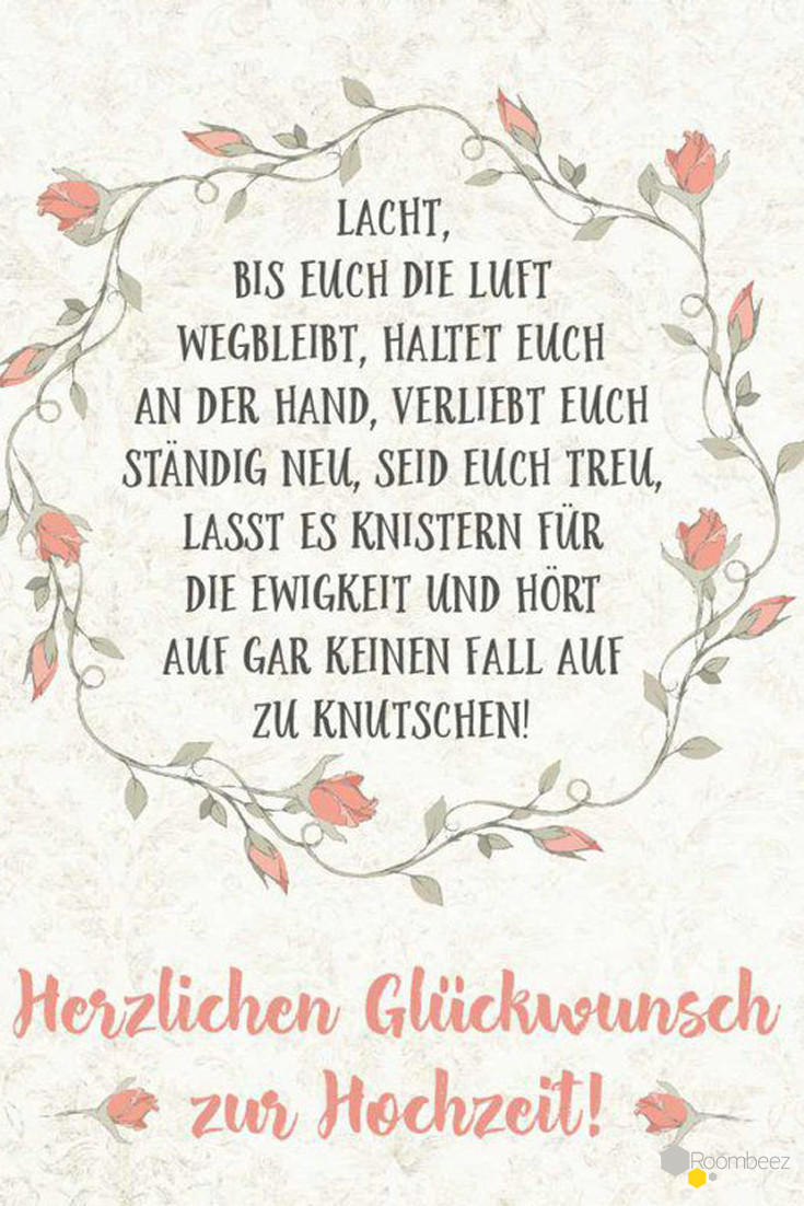 Glückwunsch Spruch Hochzeit  Hochzeitssprüche ♥ 20 kostenlose Sprüche en und