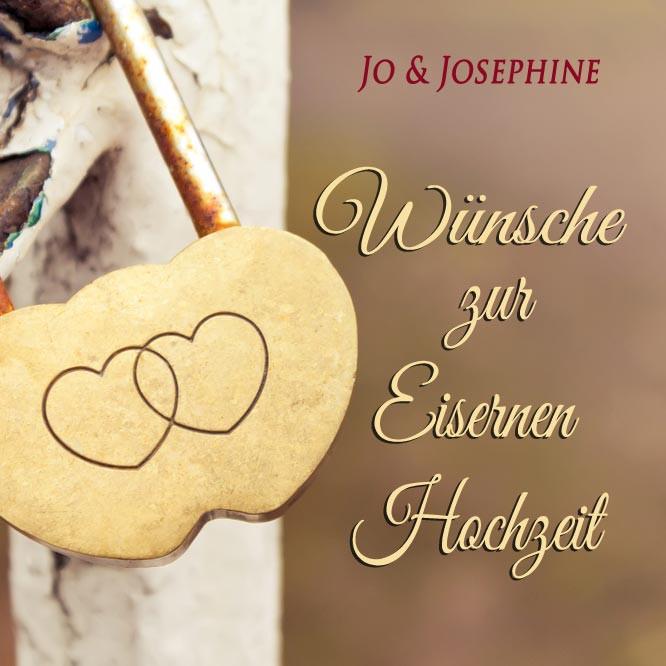 """Glückwünsche Zur Eisernen Hochzeit  """"Wünsche zur Eisernen Hochzeit"""" Lied als MP3 oder CD"""
