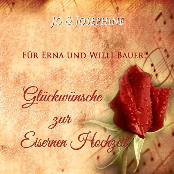 Glückwünsche Zur Eisernen Hochzeit  65 Jahre verheiratet personalisierte CD als Geschenk