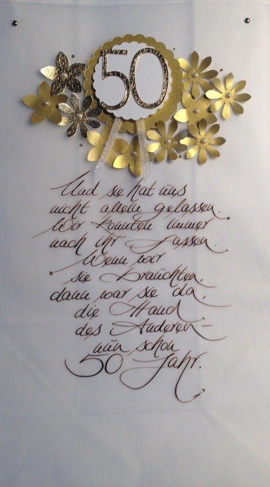 Glückwünsche Zur Goldenen Hochzeit  Eine Lichttüte zur Goldenen Hochzeit