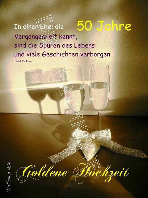"""Glückwünsche Zur Goldenen Hochzeit  Goldene Hochzeit Karte """"Gläser Gold"""" TD0056"""