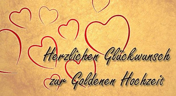 Glückwünsche Zur Goldenen Hochzeit  Goldene Hochzeit Glückwünsche und Sprüche