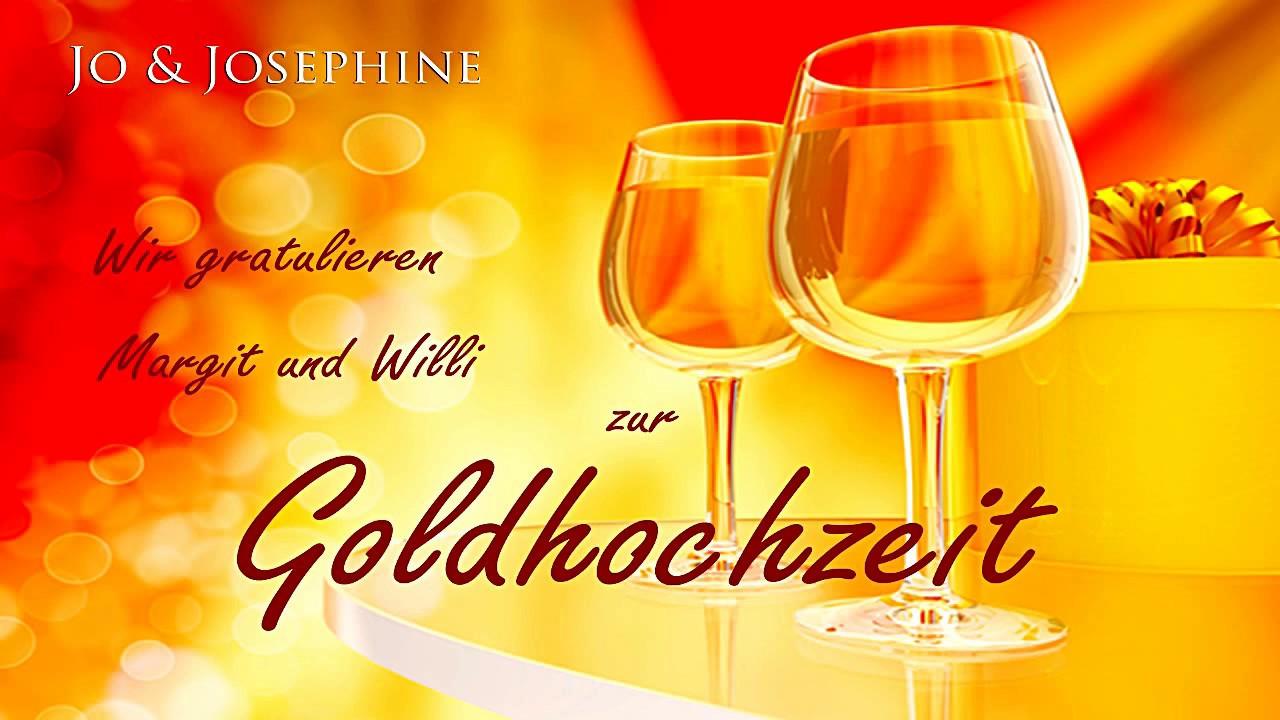 Glückwünsche Zur Goldenen Hochzeit  Personalisierte Glückwünsche zur Goldenen Hochzeit CD