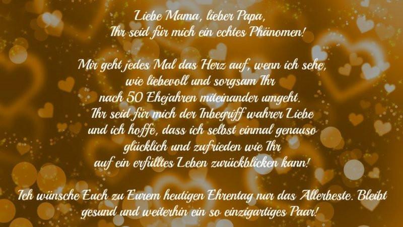 Glückwünsche Zur Hochzeit Für Sohn Und Schwiegertochter  Glückwünsche und Sprüche für goldene Hochzeit der