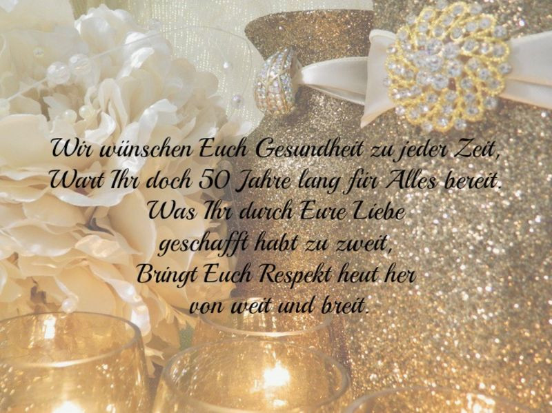 Glückwünsche Zur Hochzeit Für Sohn Und Schwiegertochter  besten Sprüche und Wünsche zur goldene Hochzeit